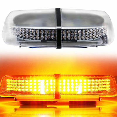 Amber 240 LEDs Light Bar Roof Top Emergency Beacon Warning Flash Strobe 12V