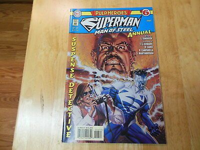 """Superman Man of Steel Annual #6 1997 """"Pulp Heroes"""" Written by Louise Simonson DC"""