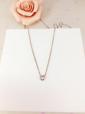 18k rose gold with round brilliant cz pendant necklace(out of stock)coming soon