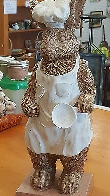 Kitchen Rabbit/Bunny-Dressed-Chef-15.5 in Tall-French Country/Cottage-NICE!