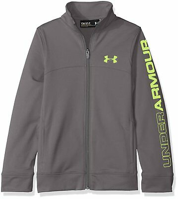 Under Armour Youth Boys' UA Pennant Warm Up Jacket 1281069 Graphite/Fuel Green