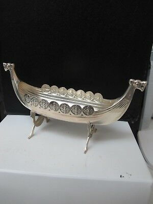 Vintage David Andersen Norway Sterling Silver 925  Large Viking Ship