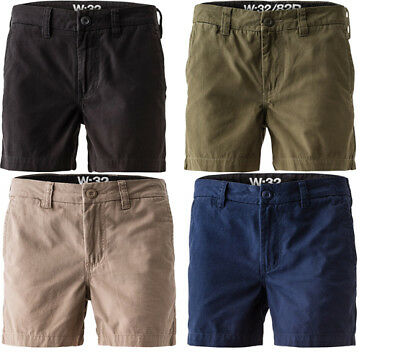 FXD WS-2 Short Work Shorts Stubbies Style Ruler Pocket - Green Khaki Navy Black