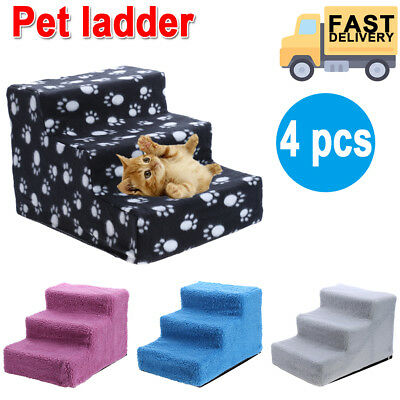Portable Pet Stairs Dog Steps Indoor Ramp Folding Animal Cat Ladder w/ Cover JD