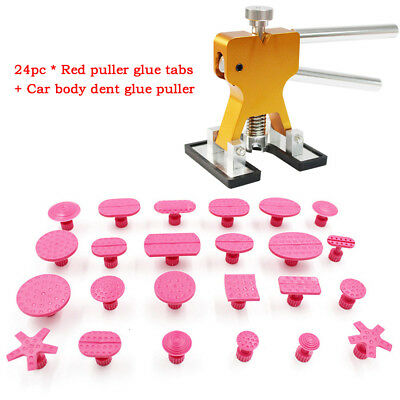 Car Body Hail Glue Puller Tabs Lifter Paintless Removal Dent Repair PDR Tool Set