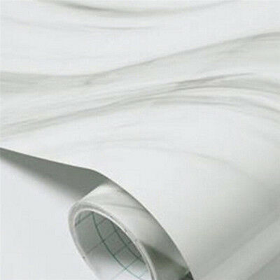 1pc Self Adhesive Marble Effect Contact Paper Film Peel-stick Wall Covering