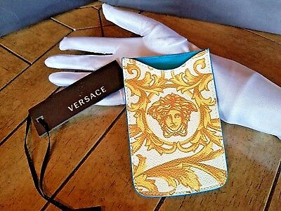 Auth BOX VERSACE Italy Medusa iphone Business Card Credit Card Case Pouch Pocket