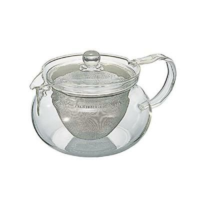Hario Green Tea All Glass Tea Pot Japanese Cha Cha Kyusu Maru 450ml (japan impor