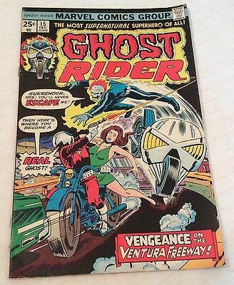 Ghost Rider Comic Book #15, Marvel Comics 1975 VERY GOOD CONDITION