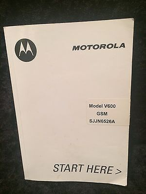 MOTOROLA MODEL V600 GSM USER MANUAL for Cellular Phone in English and Spanish