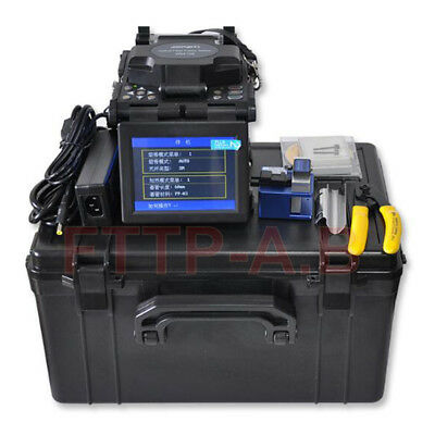 New FTTH Fiber Optic Splicing Machine Optical Fiber Fusion Splicer Free Shipping