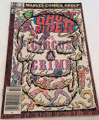 Ghost Rider #73-1982-fn+ Circus of Crime Bob Budiansky The Clown great shape