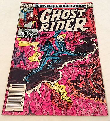 Ghost Rider Issue 76 1983 Marvel Comics Group Johnny Blaze