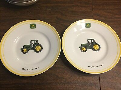 Lot Of 4 Gibson John Deere 2 Dinner Plate's And 2 Salad Plate's