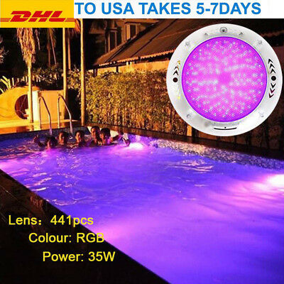 Deluxe 35W RGB multi-color 12V CE ROH Resin Filled 441 LED swimming pool lights