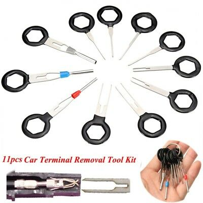11pcs Car Automotive Wire Terminal Removal Tool Connector Pin Extractor Puller