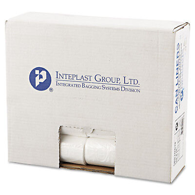 Inteplast Group WSL2424LTN Low-Density Can Liner, 24 X 24, 10gal, .35mil, Clear,