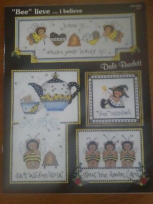 cross stitch patterns booklet bees bears