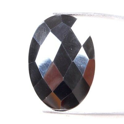 37.60 Cts Natural Hematite Checkerboard Cut Oval 27x19 MM Rare Loose Gemstones