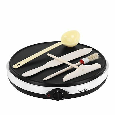 Professional Electric Crepe Maker Pan Pancake Griddle Plate Cooking Tools 12""