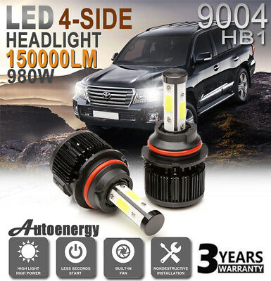 9004 HB1 LED Headlight Pair 150000LM Bulb Lamp Conversion Kit Super Bright White