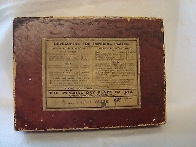 The Imperial Dry Plate Co. Ltd Cricklewood London Used  Cardboard Box