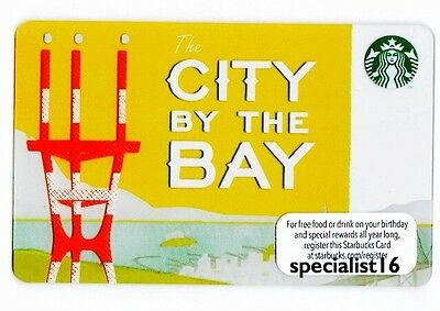 Starbucks San Francisco 2013 City By The Bay Gift Card New Mint