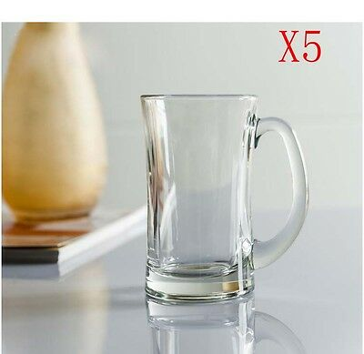 New 5X Capacity 330ML Height 133MM With A Handle Beer Wine Glass/Glassware %