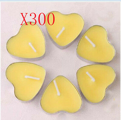 300X Wedding Party Romantic Heart-Shaped Yellow Candles Wholesale Lots 300 PCS