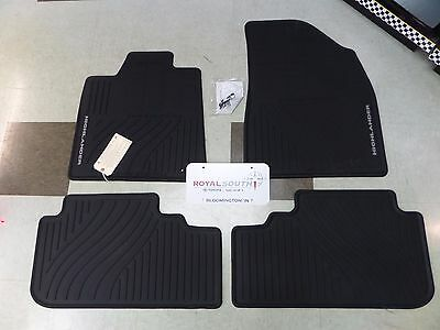 Toyota Highlander Hyb 08-13 Factory All Weather Rubber Floor Mats Genuine OEM OE