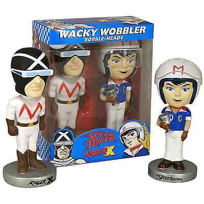 Funko Speed Racer + Racer X pop Wacky Wobbler Bobble Heads Set New in box - READ