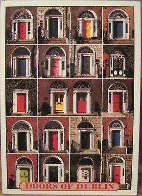 Irish Postcard Georgian Townhouse DOORS OF DUBLIN Ireland John Hinde 2/D1 1999