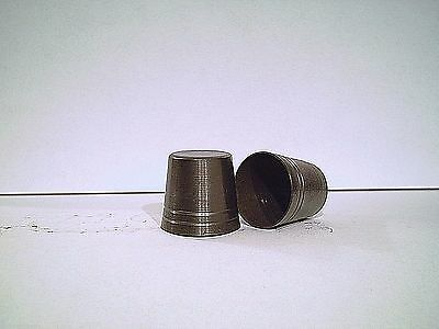 1 brass cap ferrule cane tip antiqued finish 10 sizes for you to pick from READ