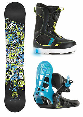 K2 Grom Boy's Snowboard Package 2017 Mens Unisex Deck All Mountain Freestyle