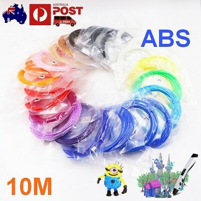 2017 3D Drawing Printer Pen ABS Filament 1.75mm 20colors 10M each for Modelling