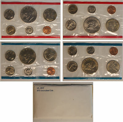 1975 US Mint Set (OGP) w/ Eisenhower dollar 13 coins ADD'L Ships Free