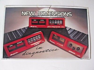 Vintage Snap - On Tool Mechanic's New Dimensions In Diagnostics Advertising Sign