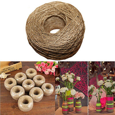 1 Roll 100M Natural Jute Twine Rope String Cord Craft Making Scrapbooking Decor.