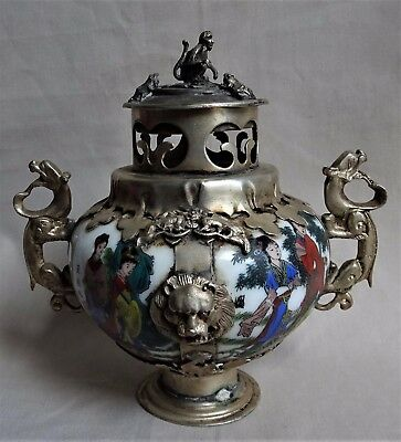 Old Oriental Porcelain Incense Burner