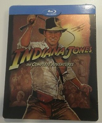 Indiana Jones The Complete Adventures Limited Edition Steelbook (Blu-ray) NEW!!