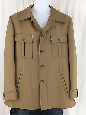 Vintage 1950-60s Men's Union Made Jacket Tailored by Palm Beach Dacron NWT 42R