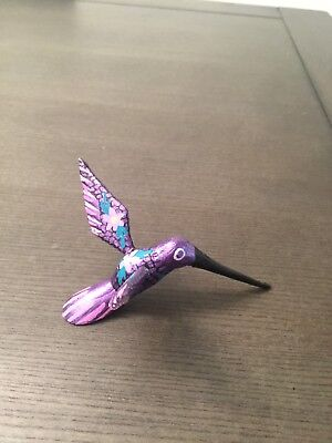 Authentic Oaxaca Hummingbird Alebrije Mexican wood carved handmade