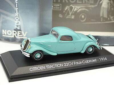 Norev 1/43 - Citroen Traction 22CV falsch Cabriolet 1934 Blau