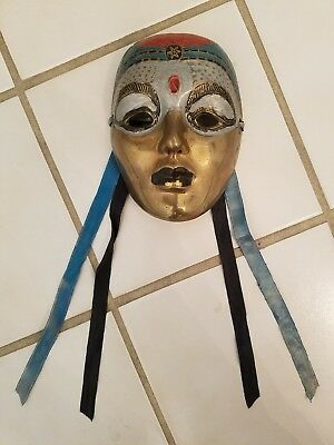 Century Distinctive Gift Brass Tribal Religious Decorative Indian Mask