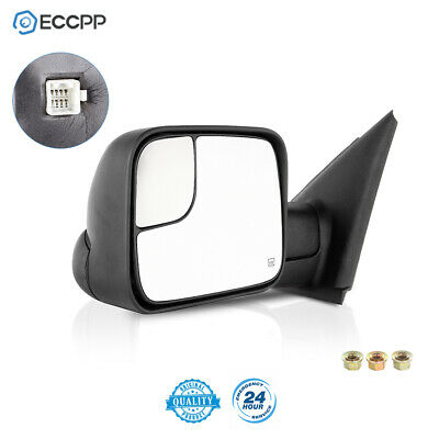 Left Driver For 2002-08 Dodge Ram 1500 2003-09 2500 3500 Power Heated Tow Mirror
