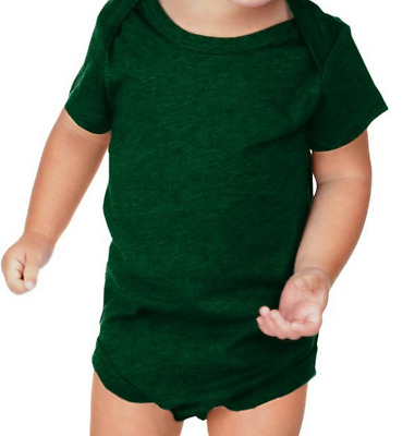 100% Soft Cotton Short Sleeve Blank Creeper Romper 15+ Colors 3 - 18 Months
