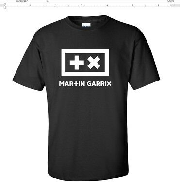 Martin Garrix Animals Electro House Music Men's Cotton Black T-Shirt  S - 5XL