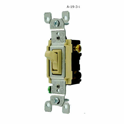 Ivory 3 Way Light Switch Residential Toggle Leviton 120 V Single Wall Repair