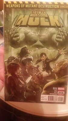Totally awesome hulk 22 key issue first appearance of weapon H. First print! !!