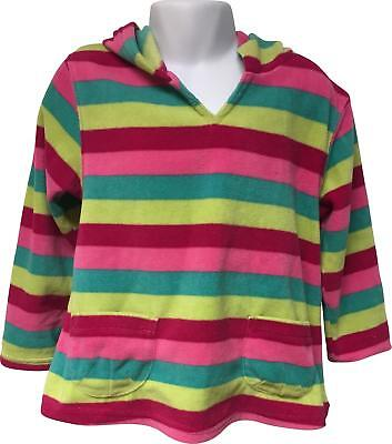 PRE-OWNED Girls Mini Mode Striped Multicoloured Hoodie Size 3-4 Yrs
